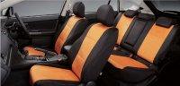 【SUBARU・XV HYBRID】スエード調フルシートカバー(オレンジ)・スバル純正部品/スバルパーツ