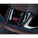 【SUBARU・WRX】STI D型用 ステアリングベゼル(ピアノブラック調)・スバルパーツ・スバル部品